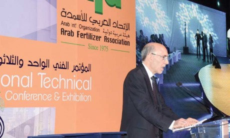 L'expérience du Maroc dans l'industrie des engrais a retenu l'attention des participants à la Conférence technique d'Arab Fertiliser Association qui a drainé environ 300 participants internationaux. Ph. Seddik
