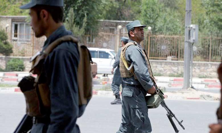 Les forces de sécurité patrouillant sur les lieux de l'attentat, le 4 juin2018.  Ph. Reuters