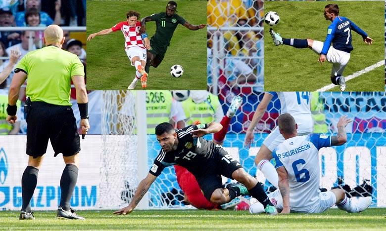 L'Argentin, le Français et le Croate, trois hommes ont chacun marqué un but. Ph : AFP