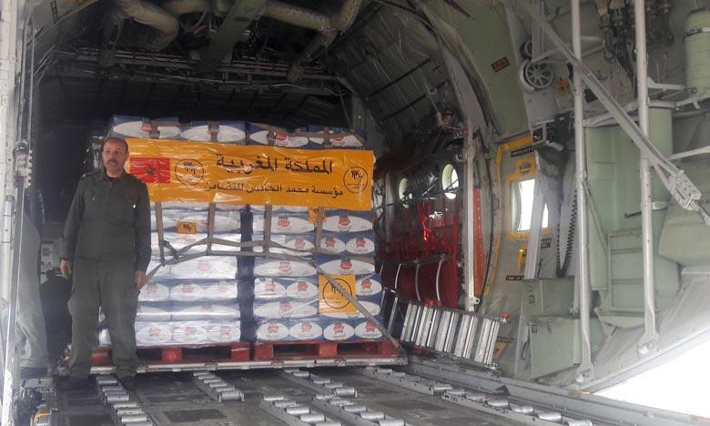 L'action royale louable intervient dans le sillage du soutien logistique et humanitaire du Maroc à la Guinée-Bissau.  Ph : MAP