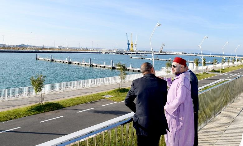 S.M. le Roi inaugure les nouveaux ports de pêche et de plaisance de Tanger, deux projets phares du programme de reconversion de la zone portuaire de Tanger-ville