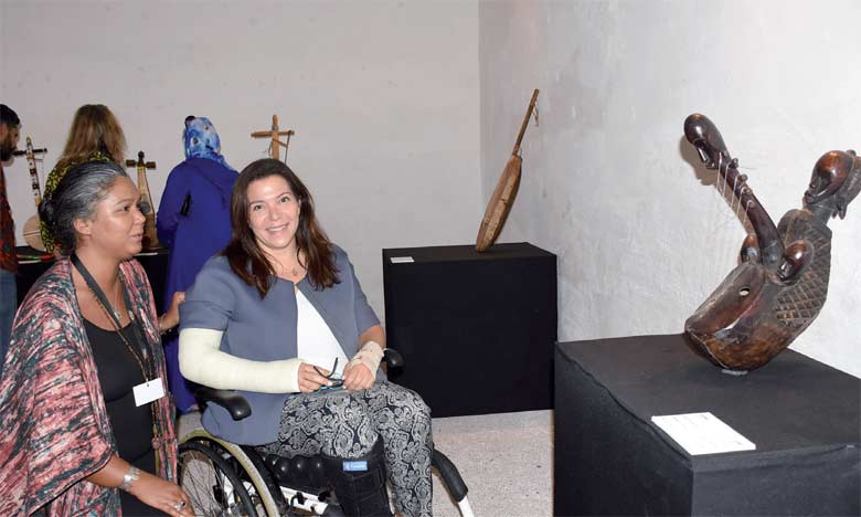 L'exposition présente quatre familles d'instruments de musique traditionnelle.                                      Ph. Saouri