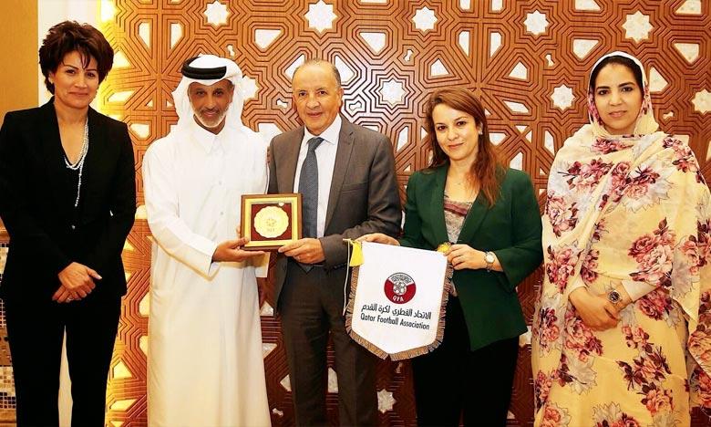 La campagne promotionnelle de Maroc 2026 poursuit sa tournée aux pays du golf, le dossier marocain débarque au Qatar. Ph : DR