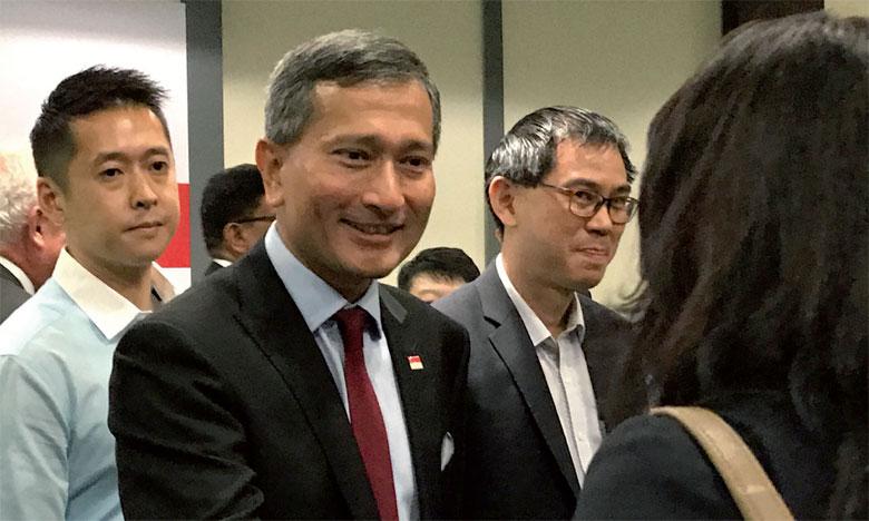 Vivian Balakrishnan, le ministre des Affaires étrangères de Singapour où aura lieu le 12 juin le Sommet Trump-Kim, entame une visite officielle de deux jours en Corée du Nord.                                                                                                              Ph. DR