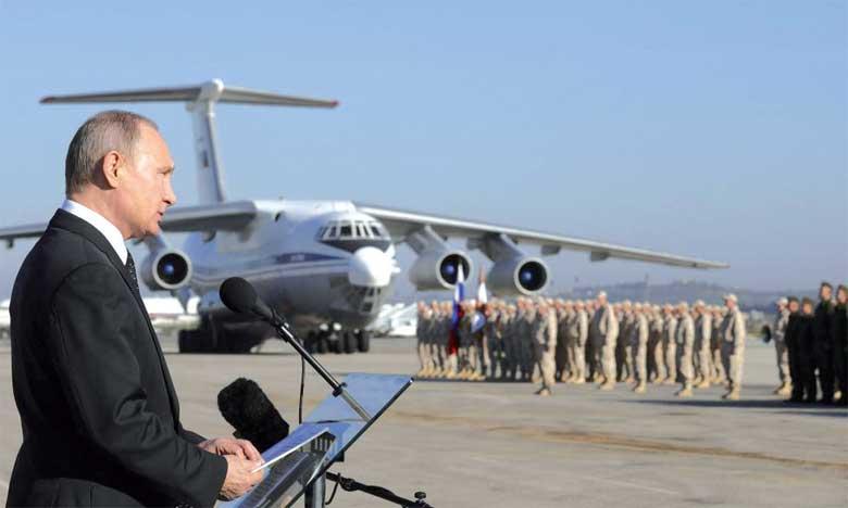 Vladimir Poutine : l'armée russe restera tant que Moscou y trouvera un intérêt