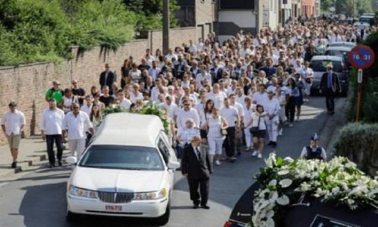 Liège : Des centaines de personnes aux obsèques de l'étudiant tué