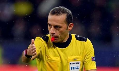 Le match Maroc-Iran arbitré par le turc Cuneyt Chakir