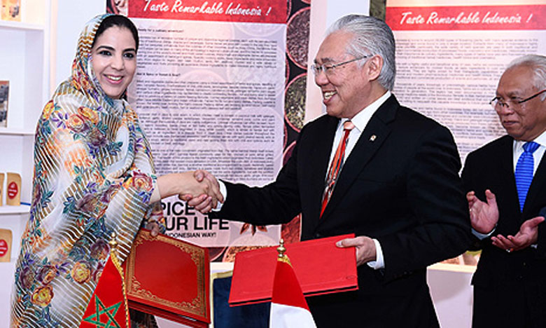 Signature d'une déclaration ministérielle pour le renforcement  du partenariat commercial entre le Maroc et l'Indonésie