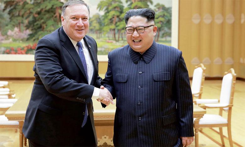 Le chef de la diplomatie américaine Mike Pompeo, qui a rencontré Kim Jong un à deux reprises, a assuré que les discussions progressent rapidement.                                                                                                     Ph. AFP