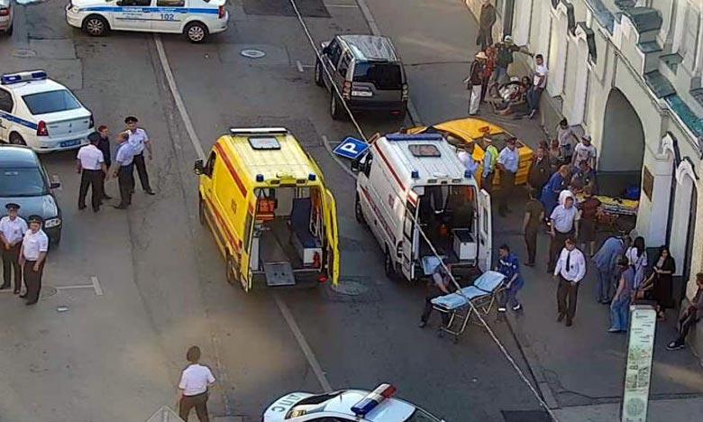 Le chauffeur du taxi qui, hors de contrôle, a fauché plusieurs personnes en plein centre de Moscou affirme avoir confondu la pédale d'accélération et avec celle de frein. Ph : AFP