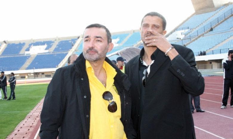 Marouane Bennani en compagnie d'Abderrazak Sebti.