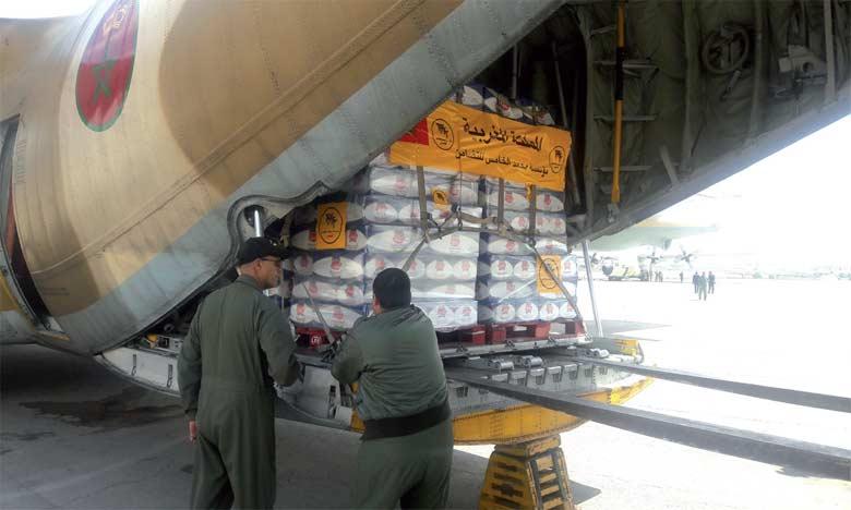 Arrivée en Jordanie du dernier lot de l'aide humanitaire marocaine au peuple palestinien