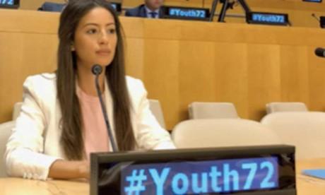 Chaymae Samir, une jeune MRE, plaide la cause des jeunes  à l'Assemblée générale de l'ONU