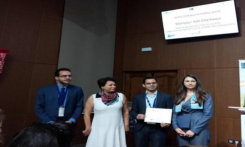 Le Prix 2018 du meilleur article scientifique attribué au Pr Adil Cherkaoui