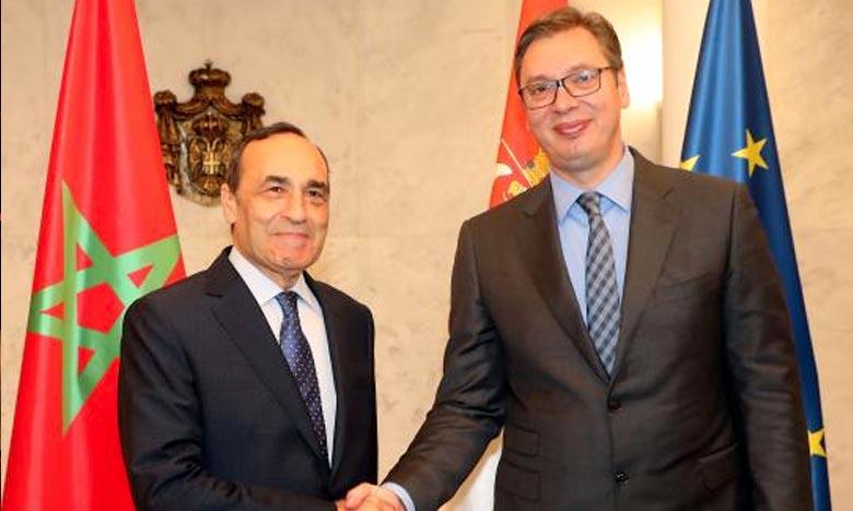 Le président de la Chambre des représentants, Habib El Malki, a été reçu à Belgrade par le Président serbe Aleksandar Vucic qui a réaffirmé le soutien de son pays à l'intégrité territoriale du Royaume. Ph : DR