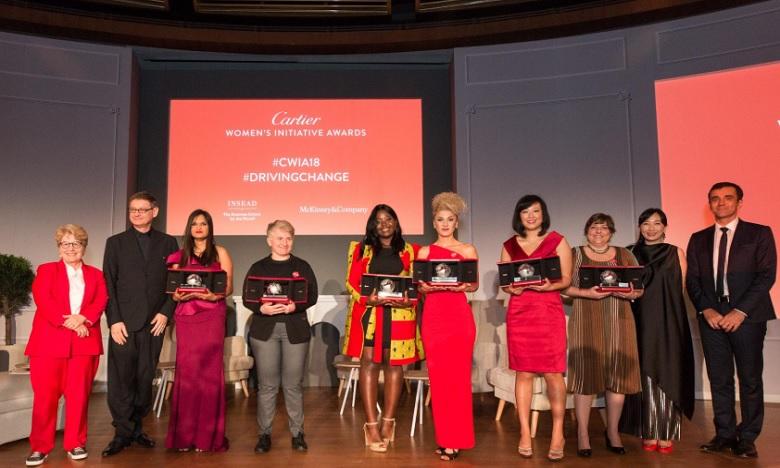 Les sept lauréates du Cartier Women's Initiative Awards 2018. Ph : DR