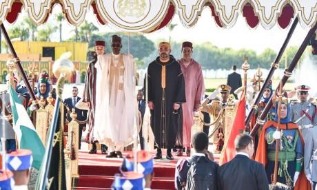 Cérémonie d'accueil officiel à Rabat du Président de la République Fédérale du Nigeria