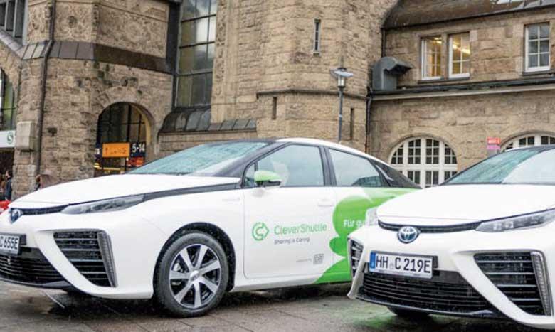CleverShuttle utilise des voitures qui roulent à l'hydrogène.