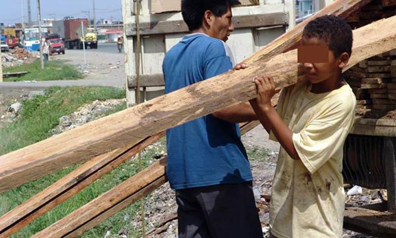 162.000 enfants exercent un travail à caractère dangereux, ce qui correspond à un taux d'incidence de 2,3%