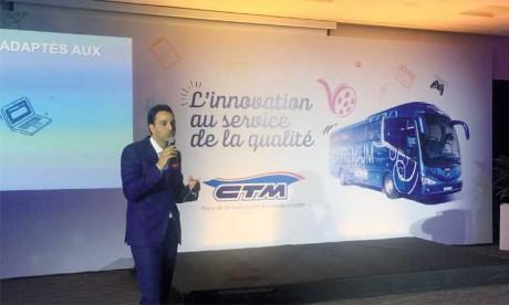 Le service CTM Premium a débuté en 2014 avec 8 départs par jour, pour en atteindre 22 aujourd'hui. Ce qui a permis à la compagnie de transporter 1 million de passagers, a annoncé le 5 juin à Casablanca, Ezzoubeir Errhaimini, PDG de CTM. Ph. Hafidi