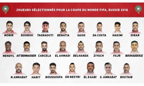 Le Maroc dévoile sa liste définitive  pour le Mondial, et une surprise!