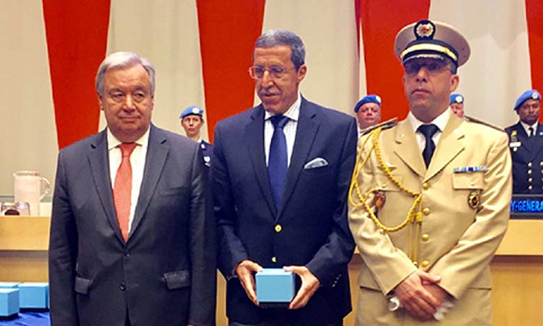 La Médaille Dag Hammarskjold décernée à titre posthume à sept casques bleus marocains