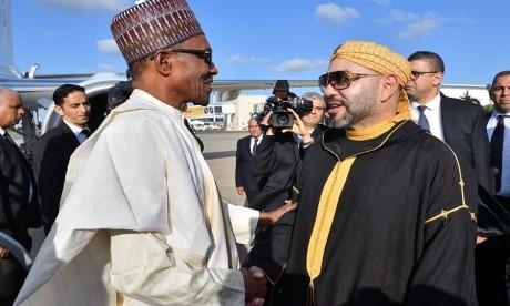 Arrivée à Rabat du Président de la République Fédérale du Nigéria pour une visite de travail et d'amitié officielle au Maroc