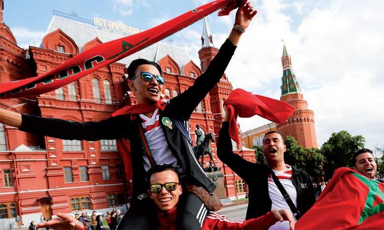 Les supporters marocains réitèrent leur soutien aux Lions sur la «Place Rouge»