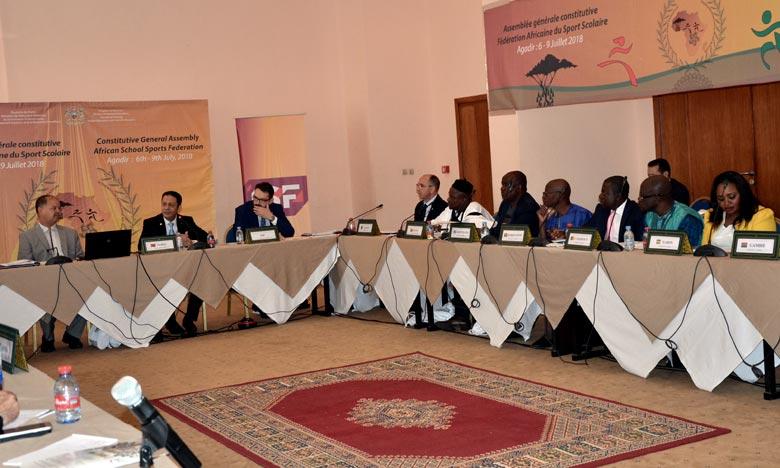 La réunion d'Agadir vise à renforcer le rôle de l'Afrique dans les instances internationales de gouvernance scolaire, ainsi qu'à renforcer le leadership du Royaume au niveau continental en général et dans le domaine du sport scolaire en particulier. Ph : MAP