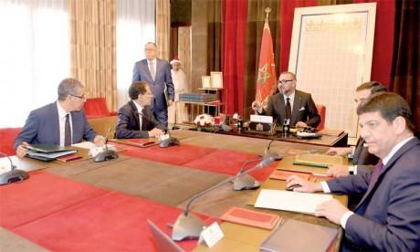 L'état d'avancement de ce mégaprojet a été l'objet d'une séance de travail présidée par Sa Majesté le Roi Mohammed VI, le 26 avril 2018 au Palais Royal de Rabat.    Ph. MAP
