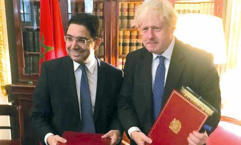 Nasser Bourita et Boris Johnson en tête-à-tête à Londres.