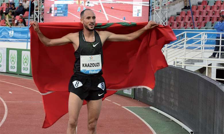 La seule victoire marocaine de la soirée est signée Brahim Kaazouzi sur le 1.500m.  Ph. Saouri