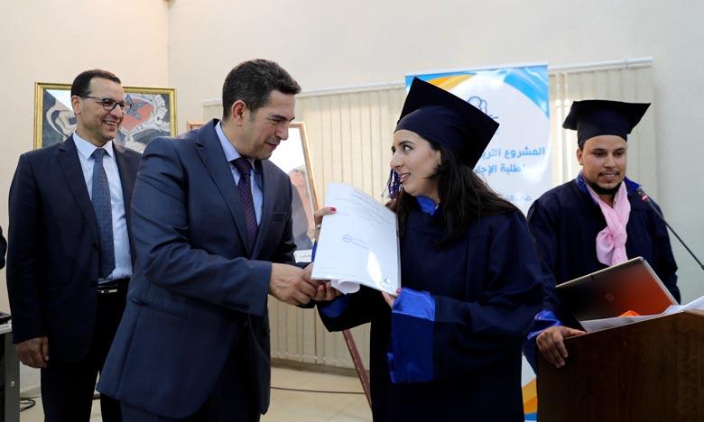 Cérémonie de remise des diplômes aux lauréats de la licence professionnelle «Education préscolaire et formation professionnelle». Ph : MAP