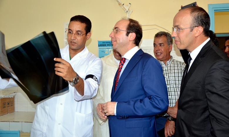 L'inauguration d'un service de médecine à l'hôpital provincial Mokhtar Soussi à Taroudant, un projet qui permettra de renforcer l'offre de santé dans cette province. Ph : MAP