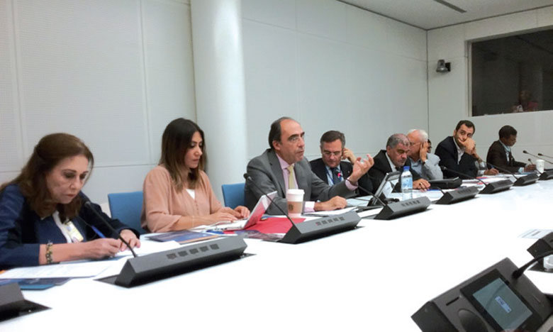 L'ambassadeur Alejandro Alvargonzález, secrétaire général adjoint de l'OTAN pour les affaires politiques  et la politique de sécurité, lors de sa rencontre mardi avec des journalistes de la région MENA.