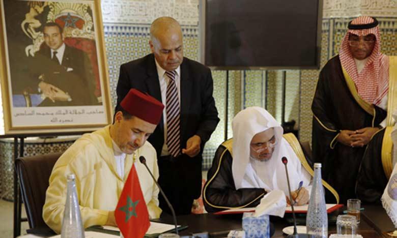 Partenariat entre la Rabita Mohammadia des oulémas et la Ligue islamique mondiale pour renforcer les valeurs de modération