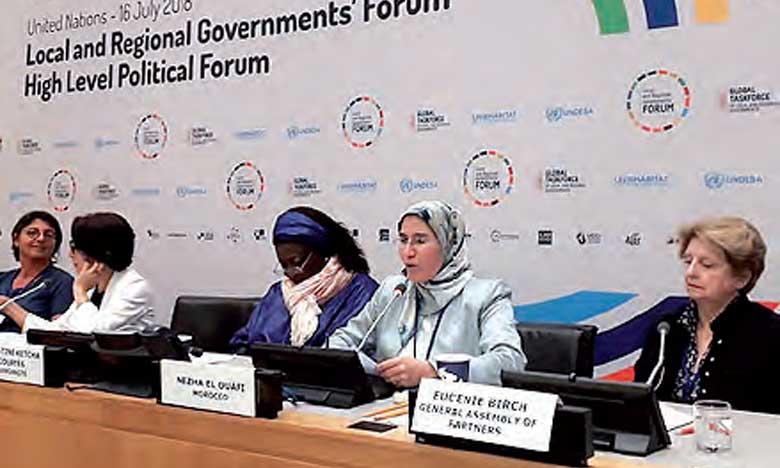 Mme El Ouafi a rappelé que le Maroc a soumis, au titre de l'Accord de Paris sur le climat, une Contribution nationale déterminée avec des objectifs ambitieux de réduction des émissions des gaz à effet de serre allant jusqu'à 42% à l'horizon 2030.