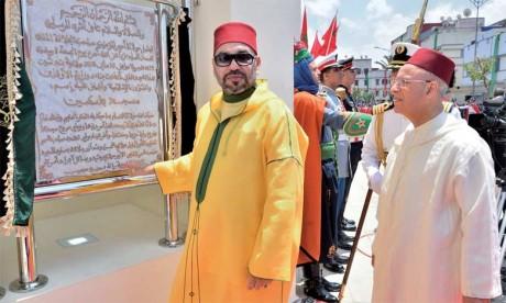 S.M. le Roi Mohammed VI a procédé, le 25 mai 2018 à Casablanca, à l'inauguration d'une mosquée que le Souverain a bien voulu baptiser du nom de «La Palestine». Ph. MAP