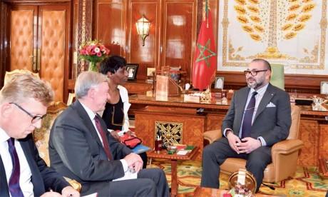 S.M. le Roi Mohammed VI avait reçu, le 17 octobre 2017 à Rabat, Horst Köhler, envoyé personnel du Secrétaire général des Nations unies pour le Sahara marocain. Ph. MAP