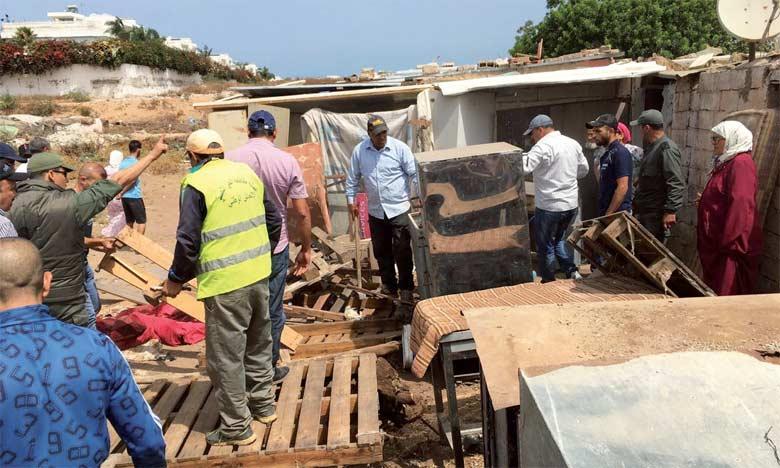 Hay Hassani: Démolition d'un bidonville «fraîchement» installé