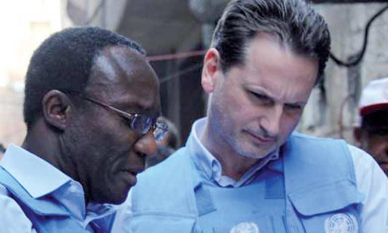 Le directeur de l'agence onusienne, Pierre Krähenbühl (à droite), a exprimé son inquiétude et appelé les autres membres de l'ONU à contribuer davantage au budget de l'agence de l'ONU pour les réfugiés palestiniens.  Ph. DR