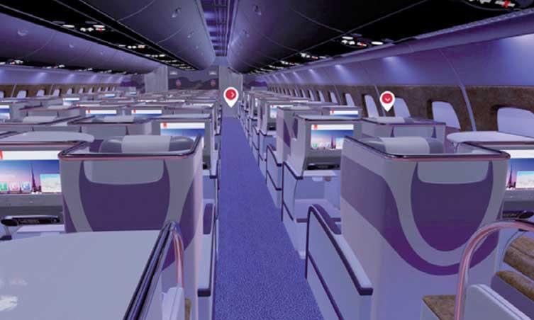 Une technologie immersive 3D des cabines pour les clients