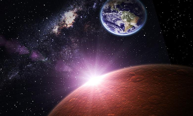 Mars au plus près de la terre cette nuit