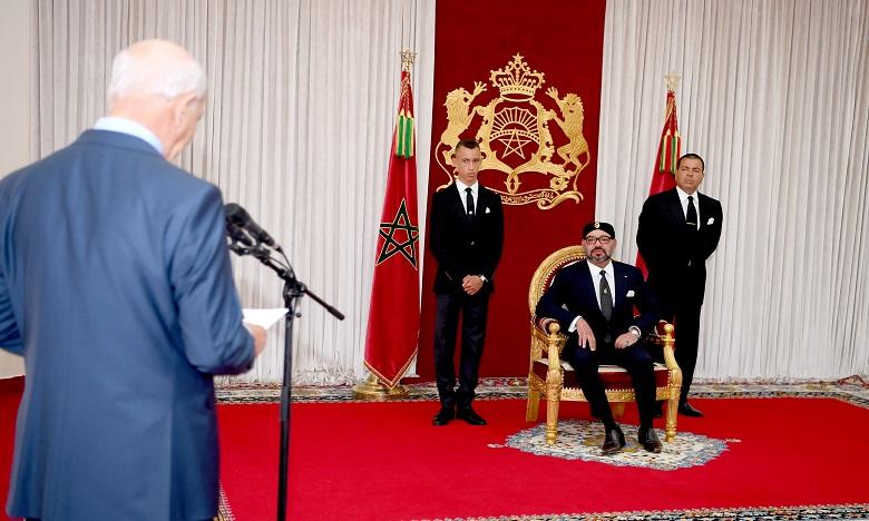 S.M. le Roi reçoit à Al Hoceïma le président de la Cour des comptes
