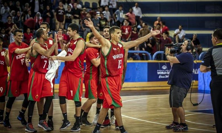 La sélection marocaine de basket-ball s'est imposée, au Caire, face à son homologue RD congolaise, le cinq national a porté son actif à 9 points. Ph : DR