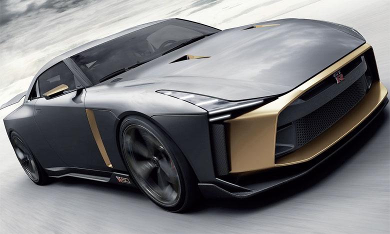 Créés pour se démarquer encore davantage que ceux de la GT-R, la carrosserie et l'habitacle de la GT-R50 par Italdesign ont été pensés par les équipes de Nissan Design Europe et de Nissan Design America.
