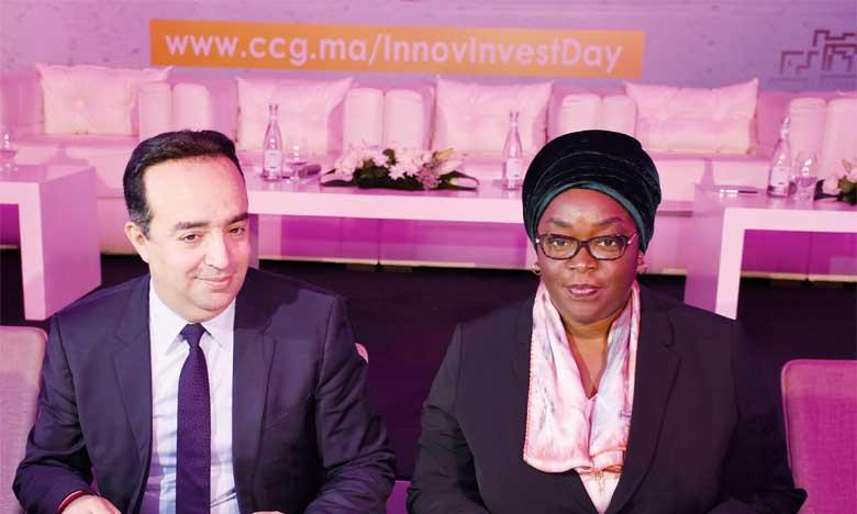 Lors de l'Innov Invest Day organisée le 29 juin à Casablanca par la CCG, une convention de coopération a été signée par Minafou Fanta Coulibaly-Kone, directrice générale du Fonds africain de garantie et de coopération économique (FAGACE), et le directeur général de la CCG portant sur l'assistance technique de la CCG au FAGACE. Ph. Seddik