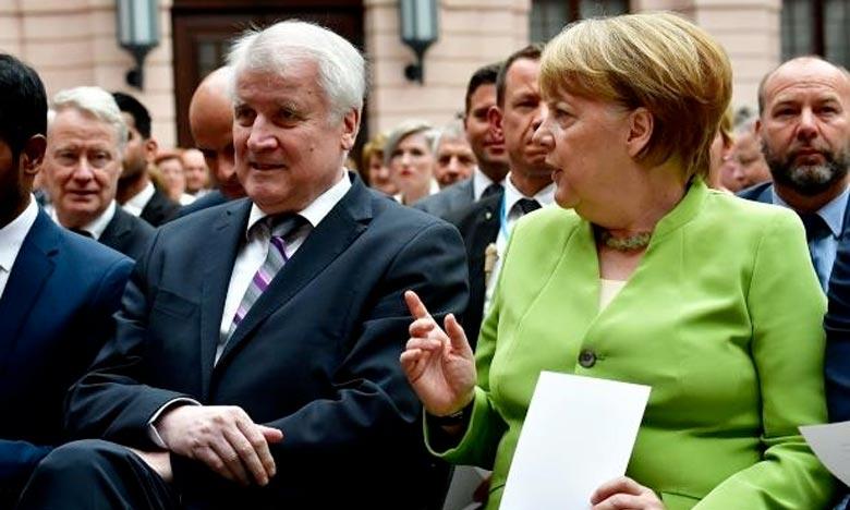 Horst Seehofer, préisdent de la CSU et ministre de l'Intérieur, est en conflit ouvert avec la chancelière allemande Angela Merkel sur la question des migrants. Ph :  AFP