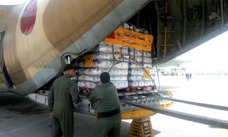 Les aides humanitaires marocaines arrivent en Cisjordanie