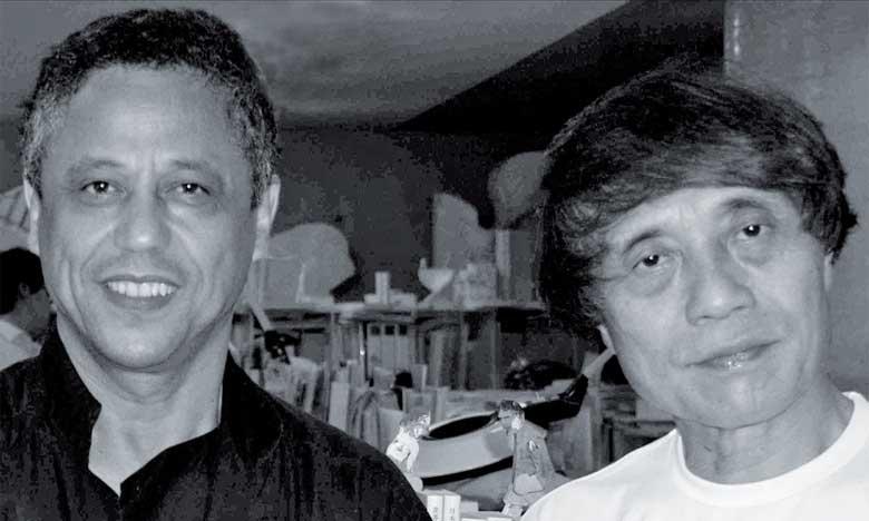 Tadao Ando (à droite) et Touhami Ennadre.